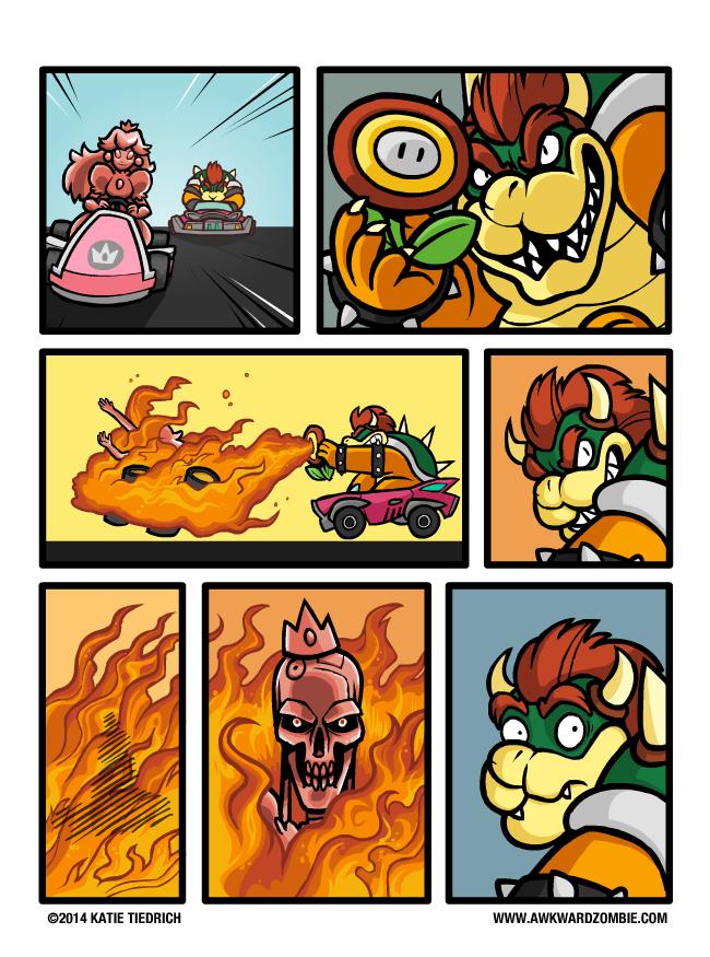 11e terminator peach mario kart know your meme
