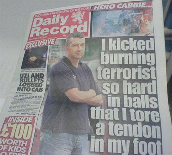 Scottish Hero | Funny News Headlines | Know Your Meme