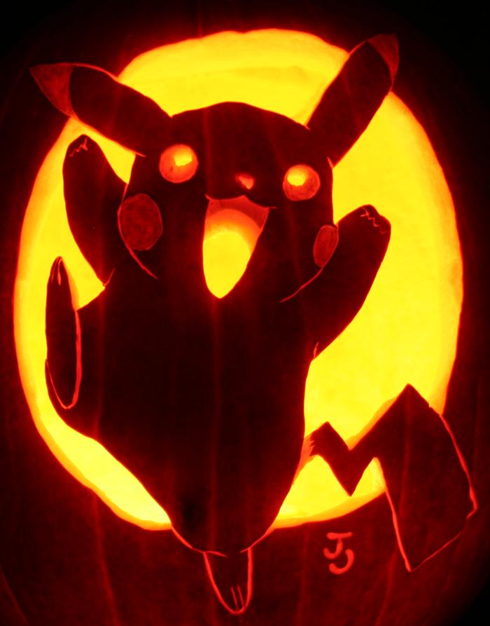 Pikapumpkin i choose you pumpkin carving art know