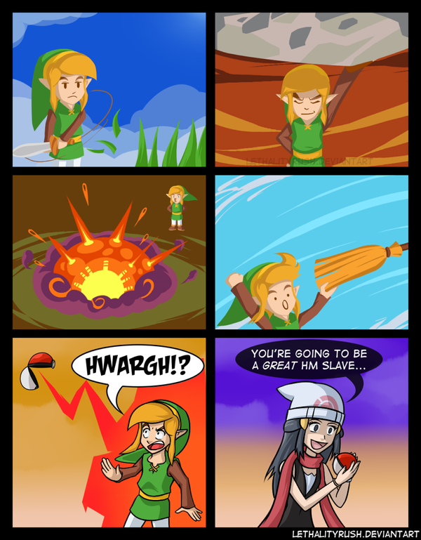 03d if link is a pokemon the legend of zelda know your meme