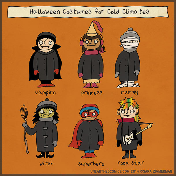 Halloween Costumes for Cold Climates