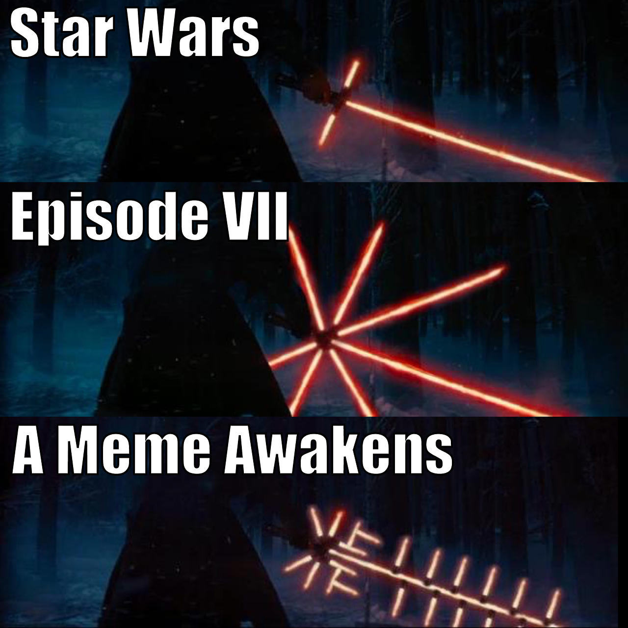 Star Wars Episode Iiv A Meme Awakens Crossguard
