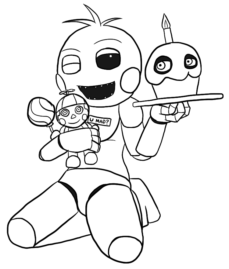 Cute Five Nights At Freddy S Pictures Coloring Pages