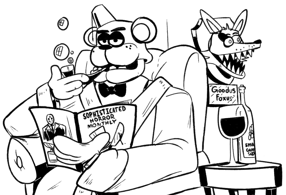 Fred Bear And Spring Bonnie Coloring