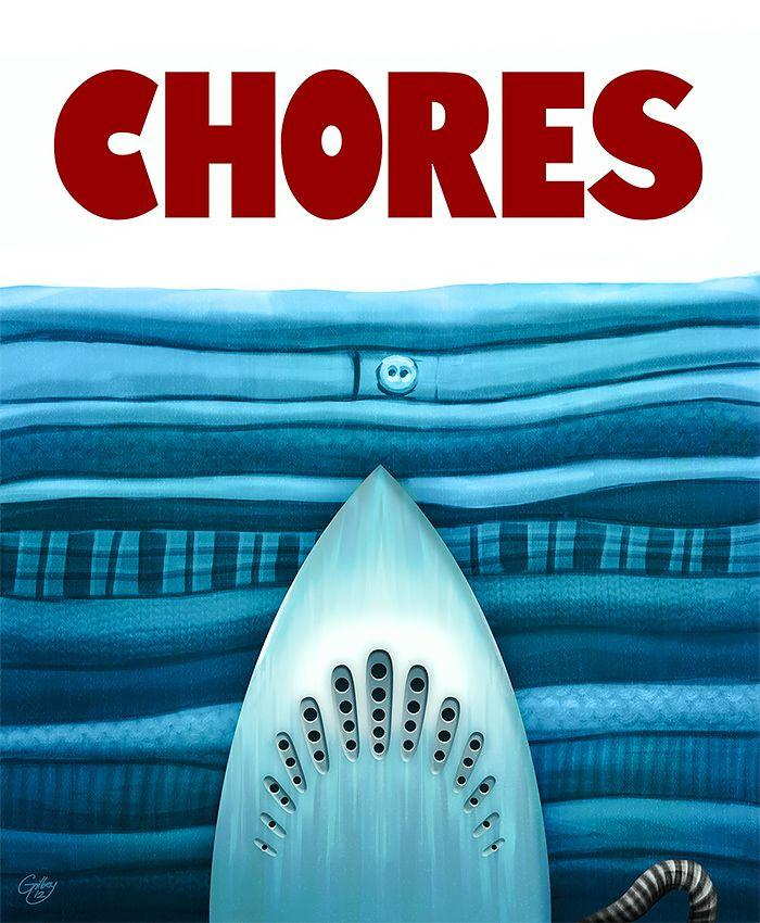 chores jaws poster parodies know your meme. Black Bedroom Furniture Sets. Home Design Ideas
