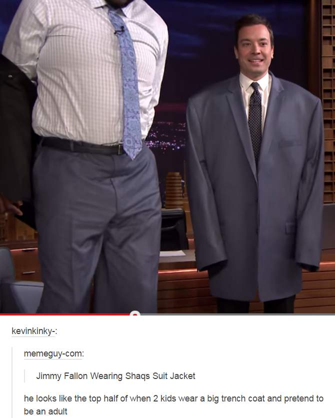 ed2 jimmy fallon wearing shaq's suit jacket shaquille o'neal know