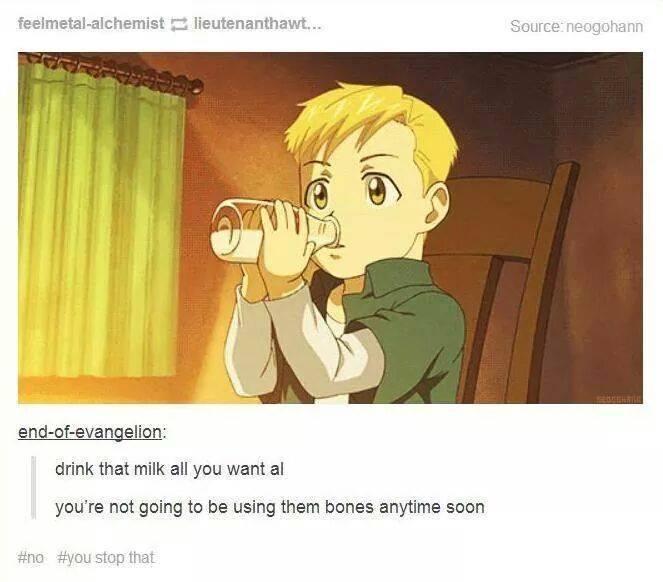 fac the milk is useless! fullmetal alchemist know your meme