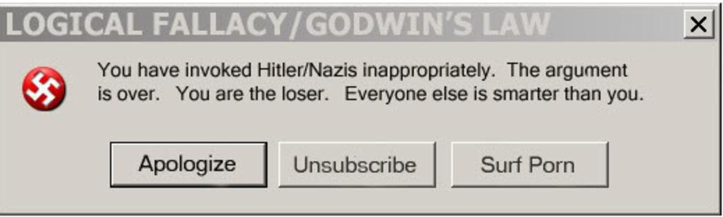 Godwin's Law   Godwin's Law