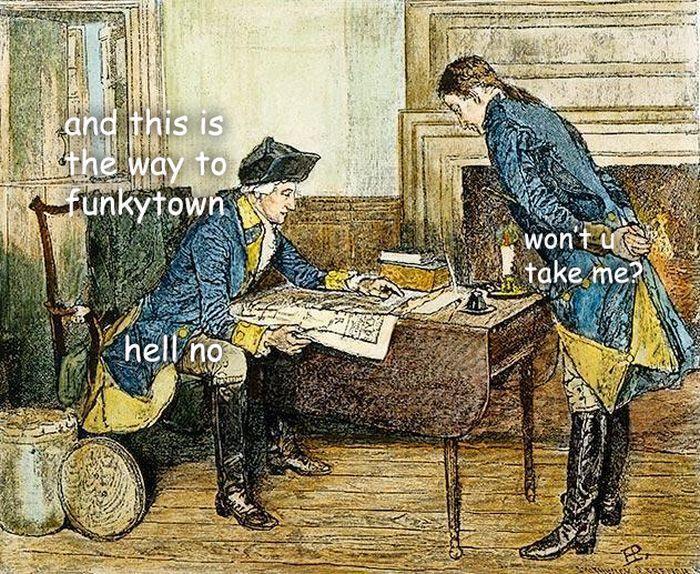 Funkytown Sassy George Washington Know Your Meme