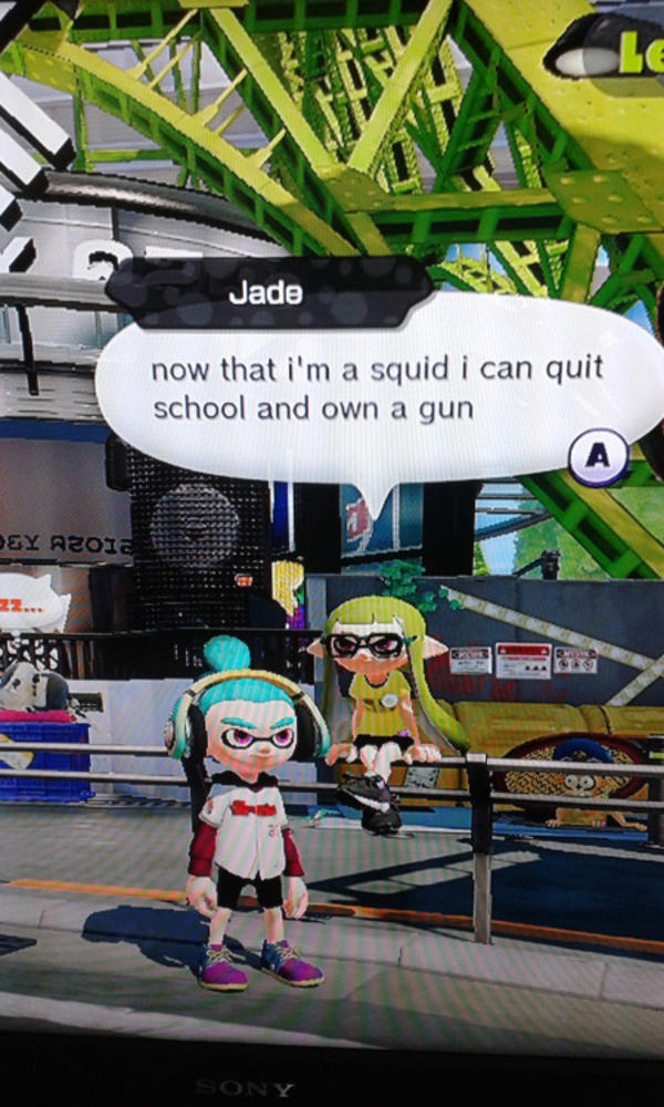 Advantages Of Squidhood Splatoon Know Your Meme