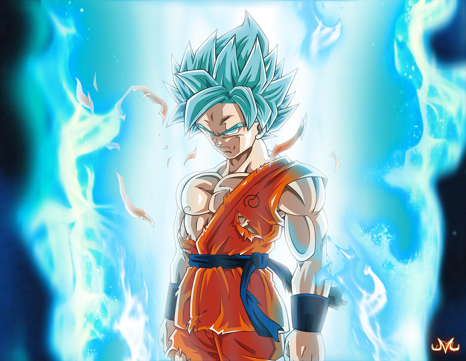 free Wallpapers Songoku SSJ God Blue