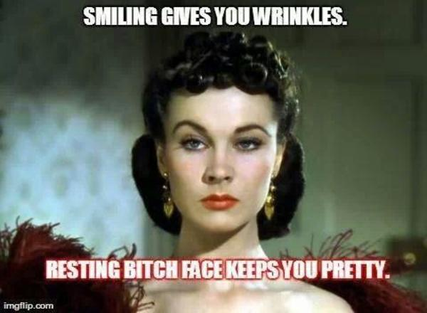 6bd resting bitch face image gallery know your meme