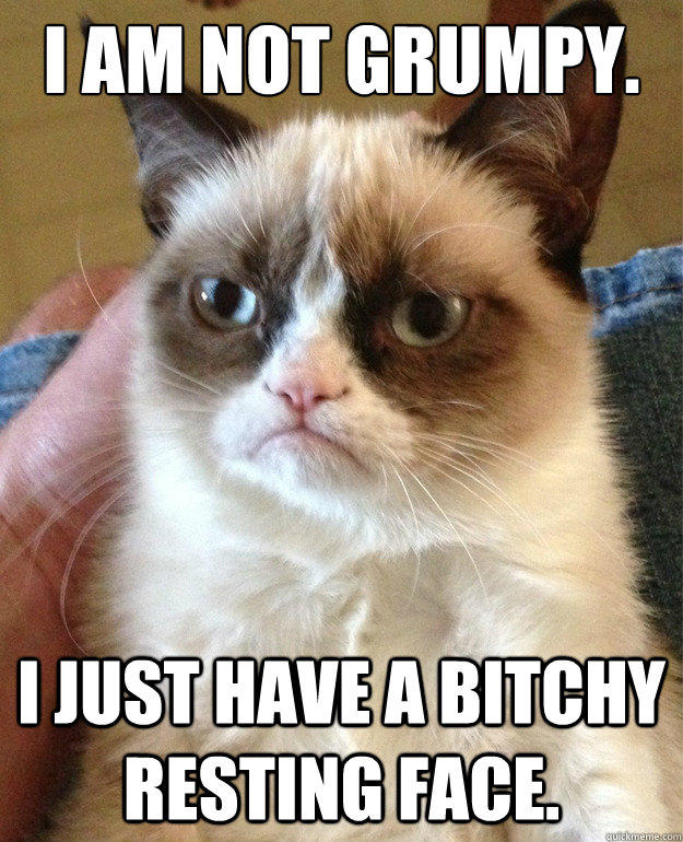 aaa grumpy cat resting bitch face know your meme