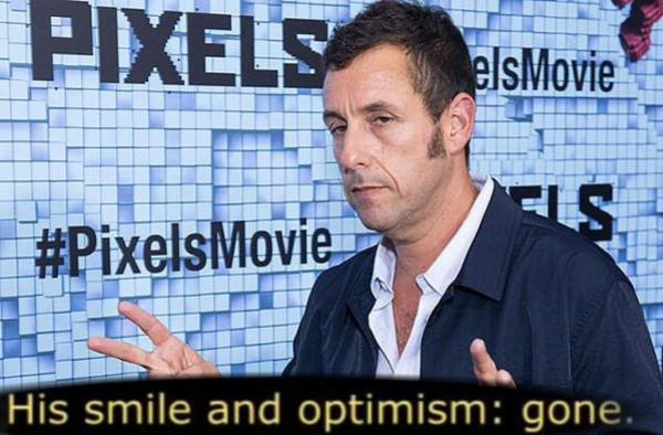 Adam Sandler His Smile And Optimism Gone Thanks Pixels