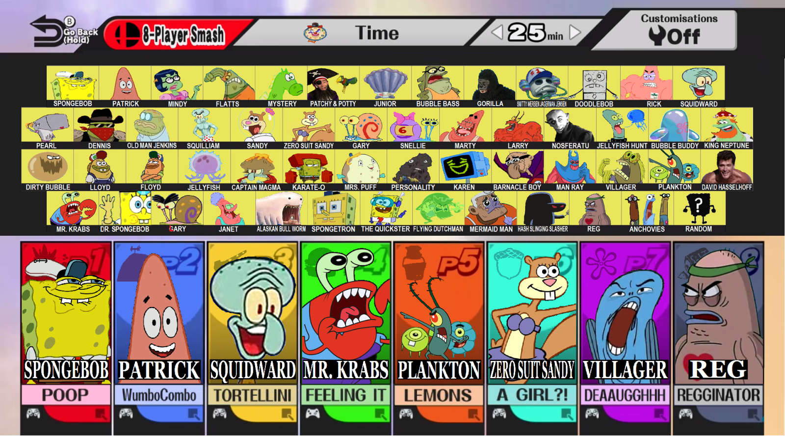 Spongebros For Wii U Super Smash Brothers Know Your Meme