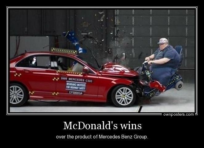 5e7 mcdonalds wins over cars mcdonald's know your meme,Mercedes Meme