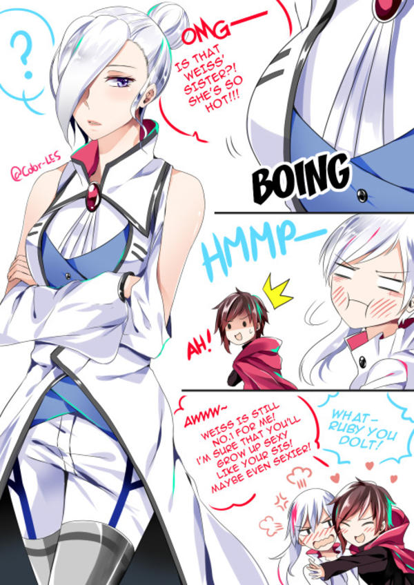 Weiss will surely grow up hot like her sister | RWBY ...