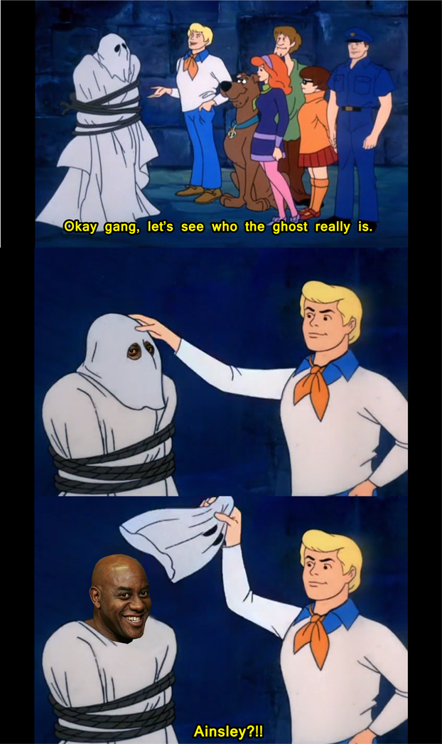 the real villain in scoobydoo ainsley harriott know