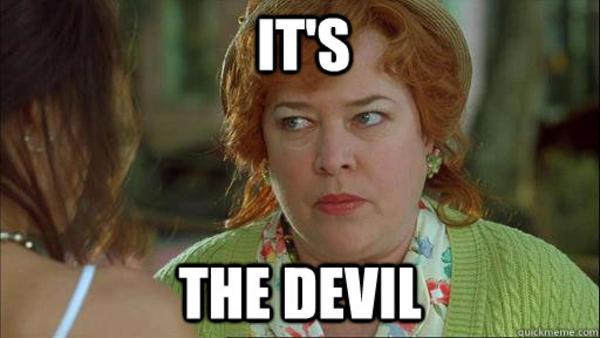 dce it's the devil reaction images know your meme