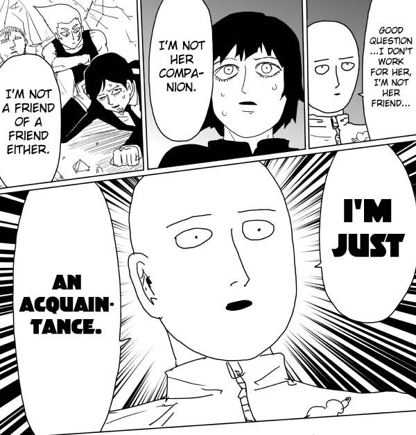 Acquaintancezoned   One-Punch Man   Know Your Meme