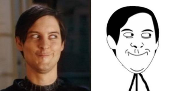 tobey maguire still and trace sidebyside tobey maguire