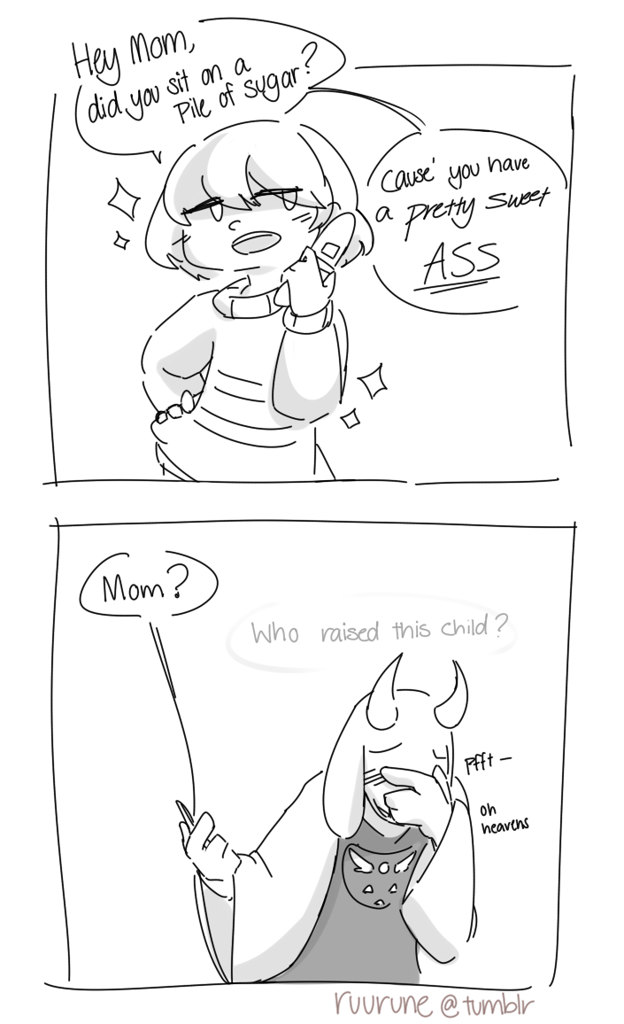 flirt with toriel after calling her mom cindy
