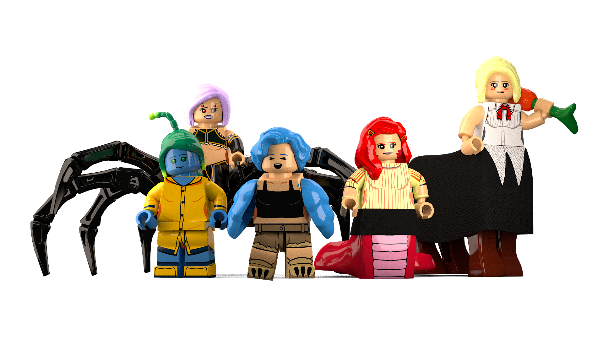 Lego MonsterGirls | Monster Musume / Daily Life with ... Obama Meme Legos
