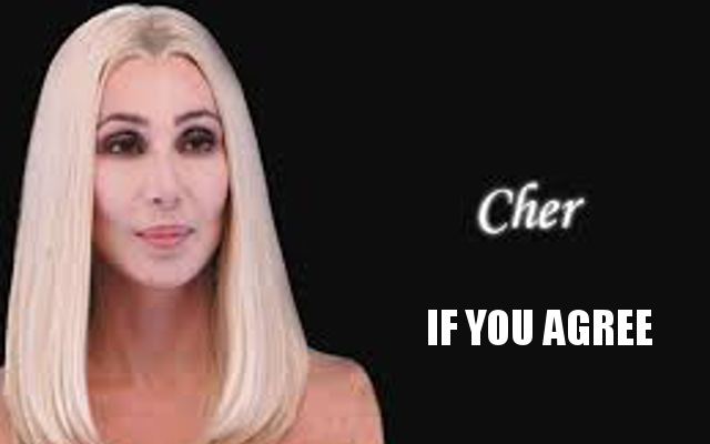 CHER IF YOU AGREE | Share If You Agree | Know Your Meme