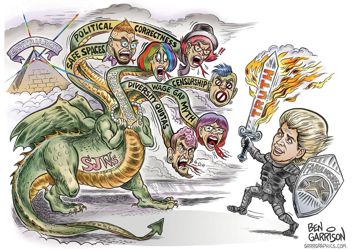 Milo Versus The SJW Hydra by Ben Garrison | Milo ...