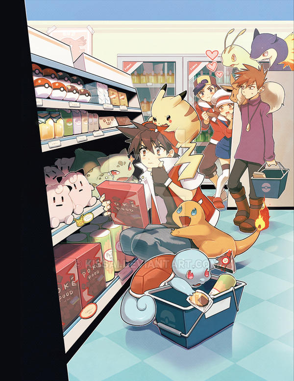 Shopping At The Poke Mart