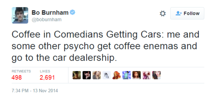 Bo Burnham Comedians In Cars Getting Coffee