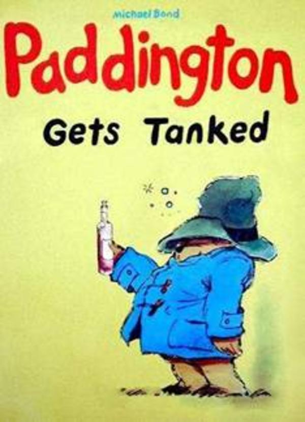 Funny Children S Book Covers ~ Paddington gets tanked children s book cover parodies