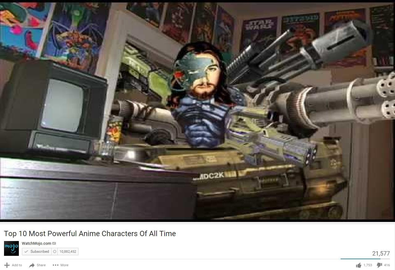 Top 10 Most Powerful Anime Characters Of All Time Parody