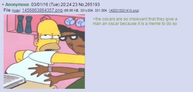 8chan Picture: 8chan /tv/ Reaction To Leo's Oscar