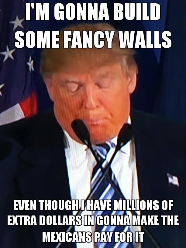 d88 walls$$$ donald trump know your meme