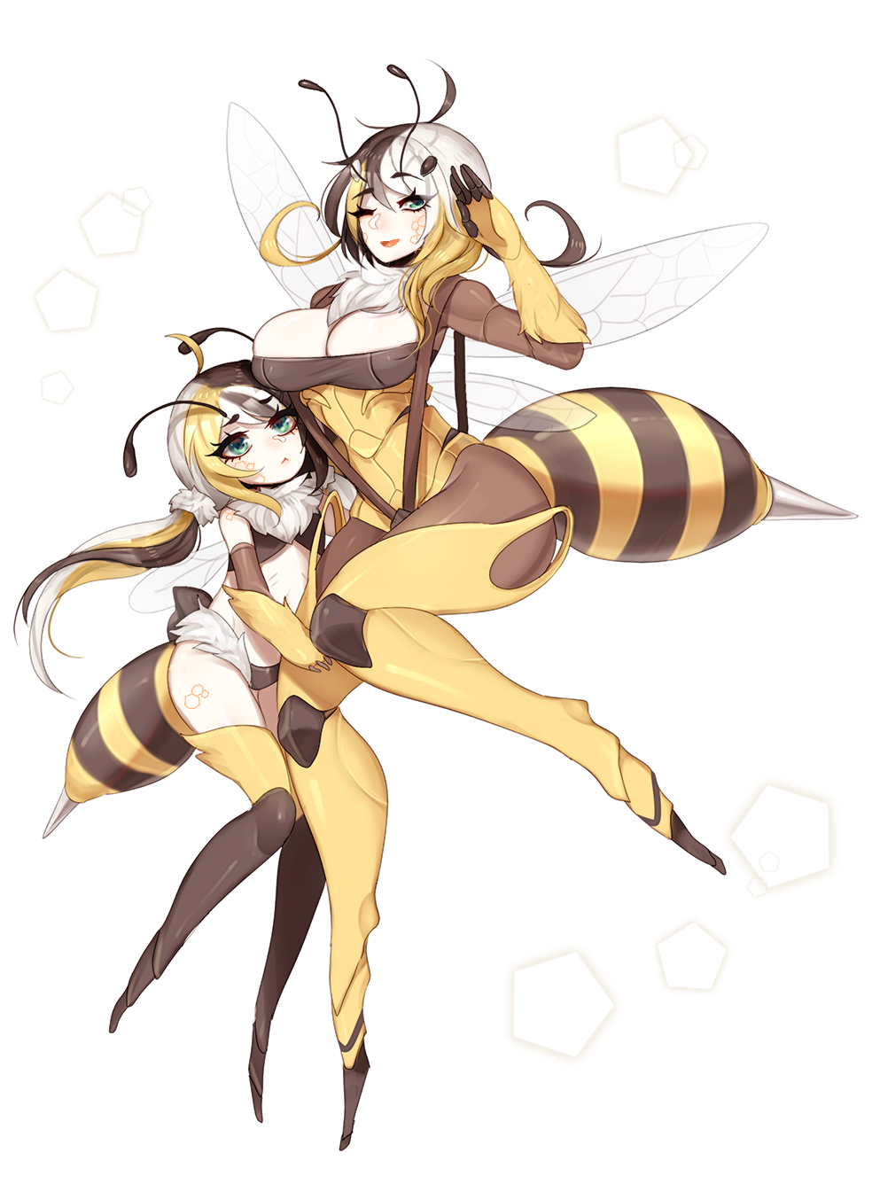 Smol Bee And Mom Bee Monster Girls Know Your Meme