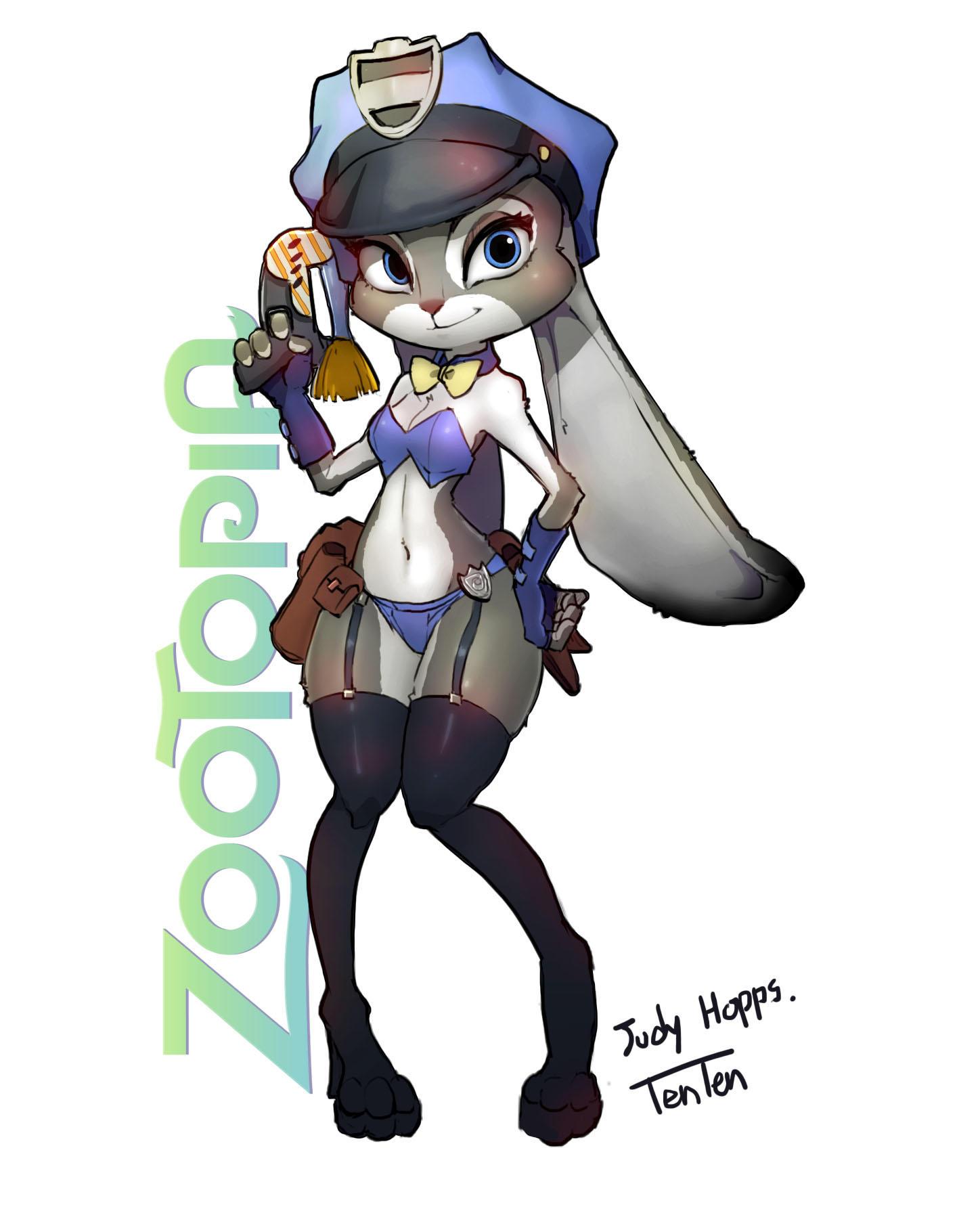 Ausmalbild Nick Und Judy Hopps Aus Zootopia: Judy Hopps By TenTen