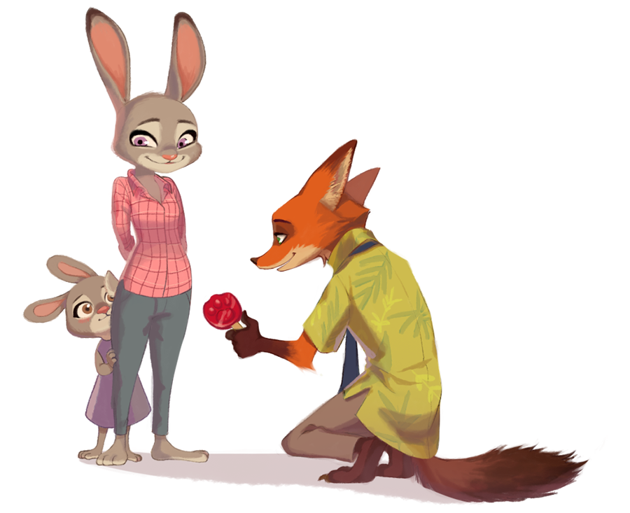 Ausmalbild Nick Und Judy Hopps Aus Zootopia: Nick Meets One Of Judy's Siblings