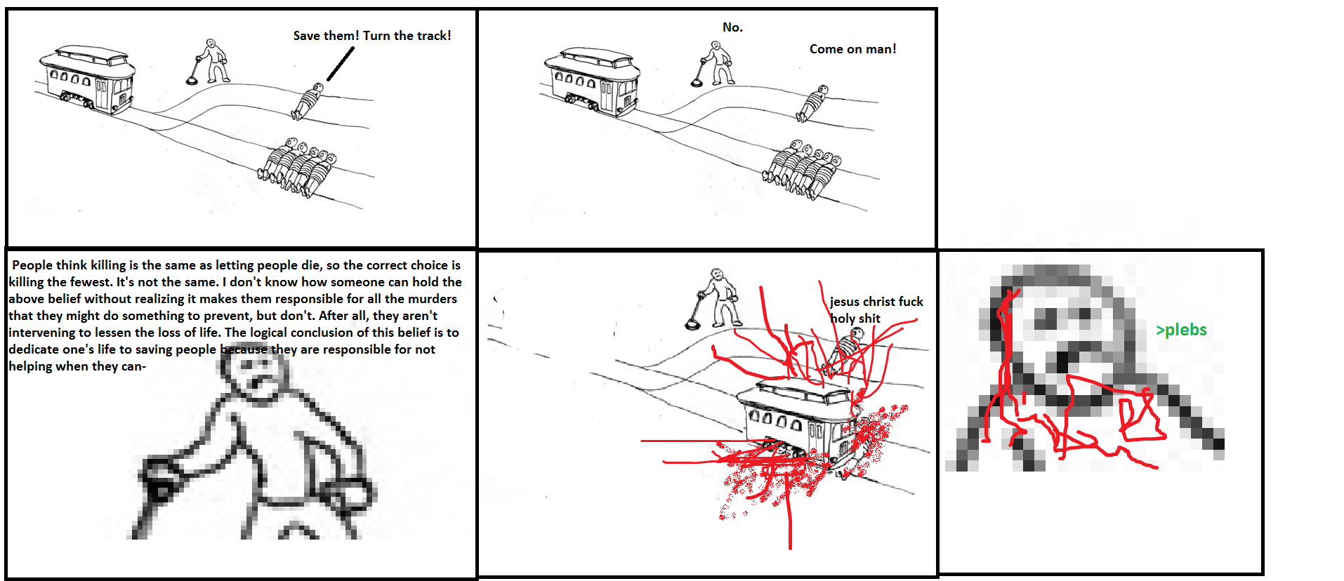 A real conundrum   The Trolley Problem   Know Your Meme