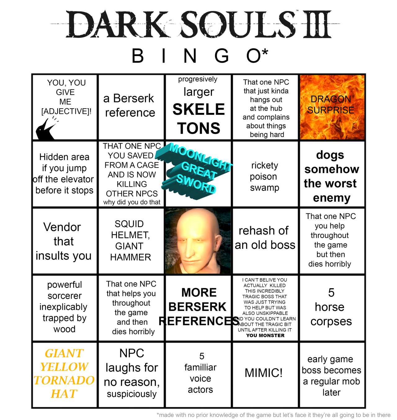 Love Each Other When Two Souls: Dark Souls 3 Bingo