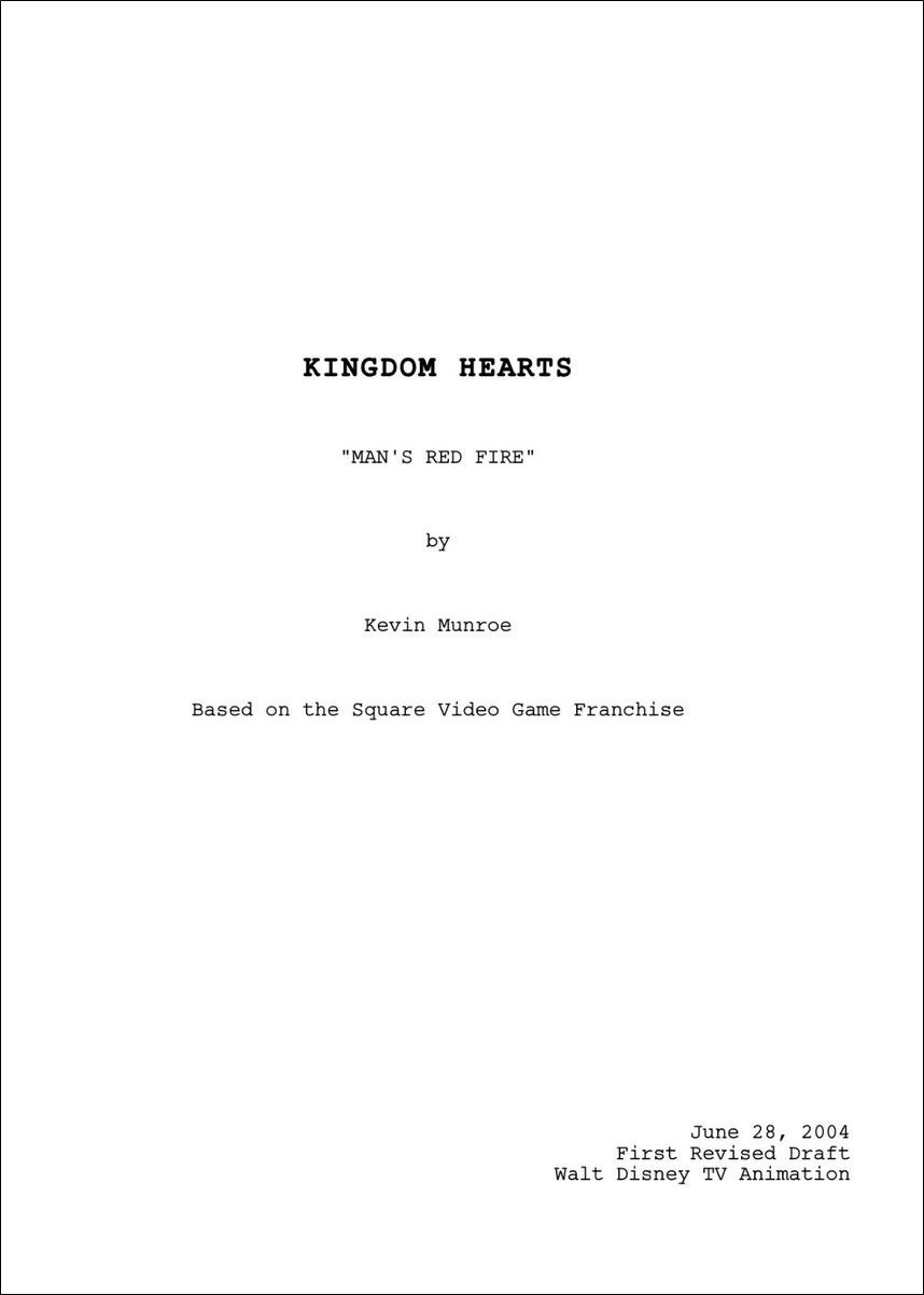 Cover Of The Script For One Of The Episodes Of The