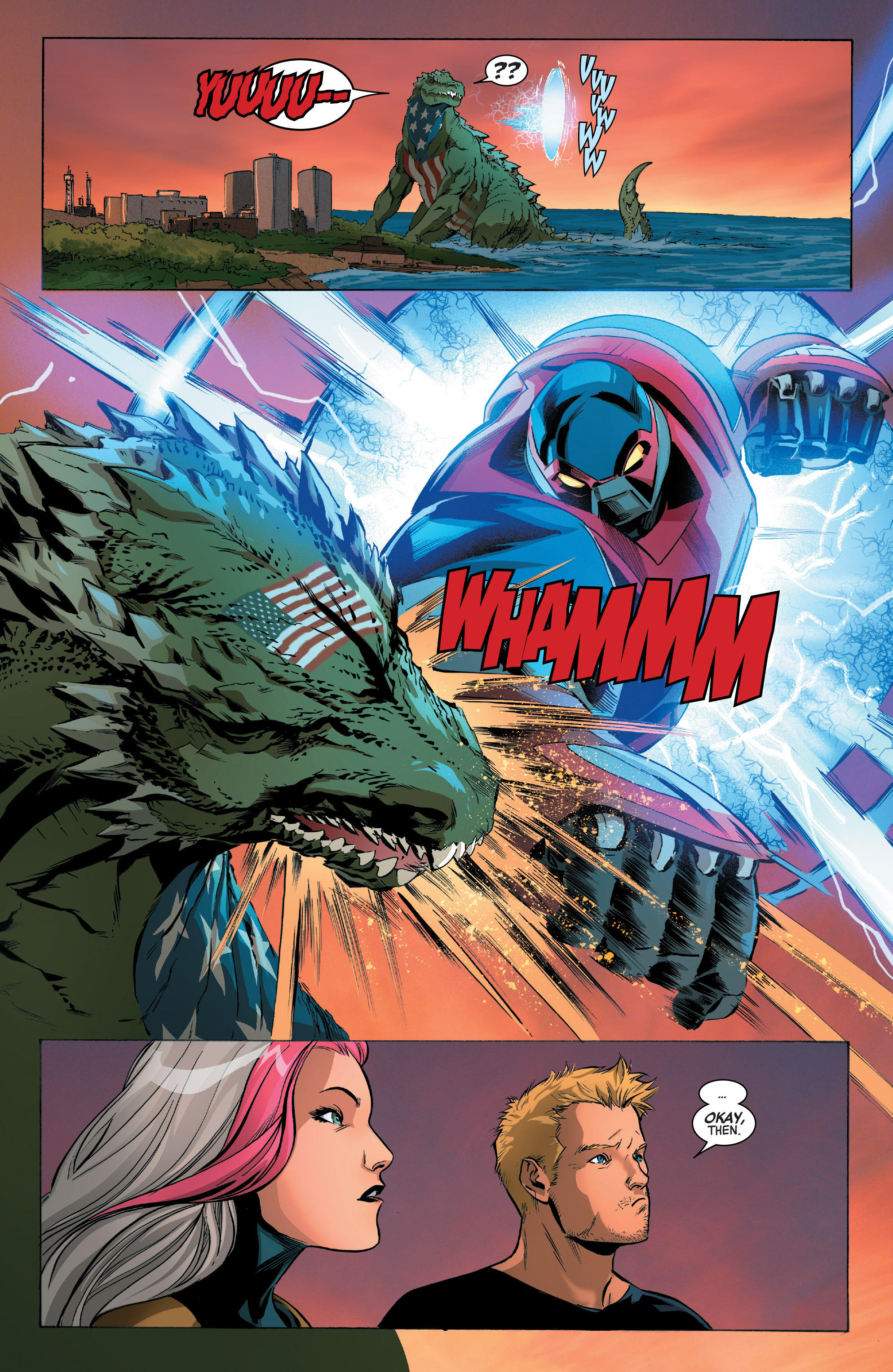 Avenger Five Vs American Kaiju Marvel Comics Know