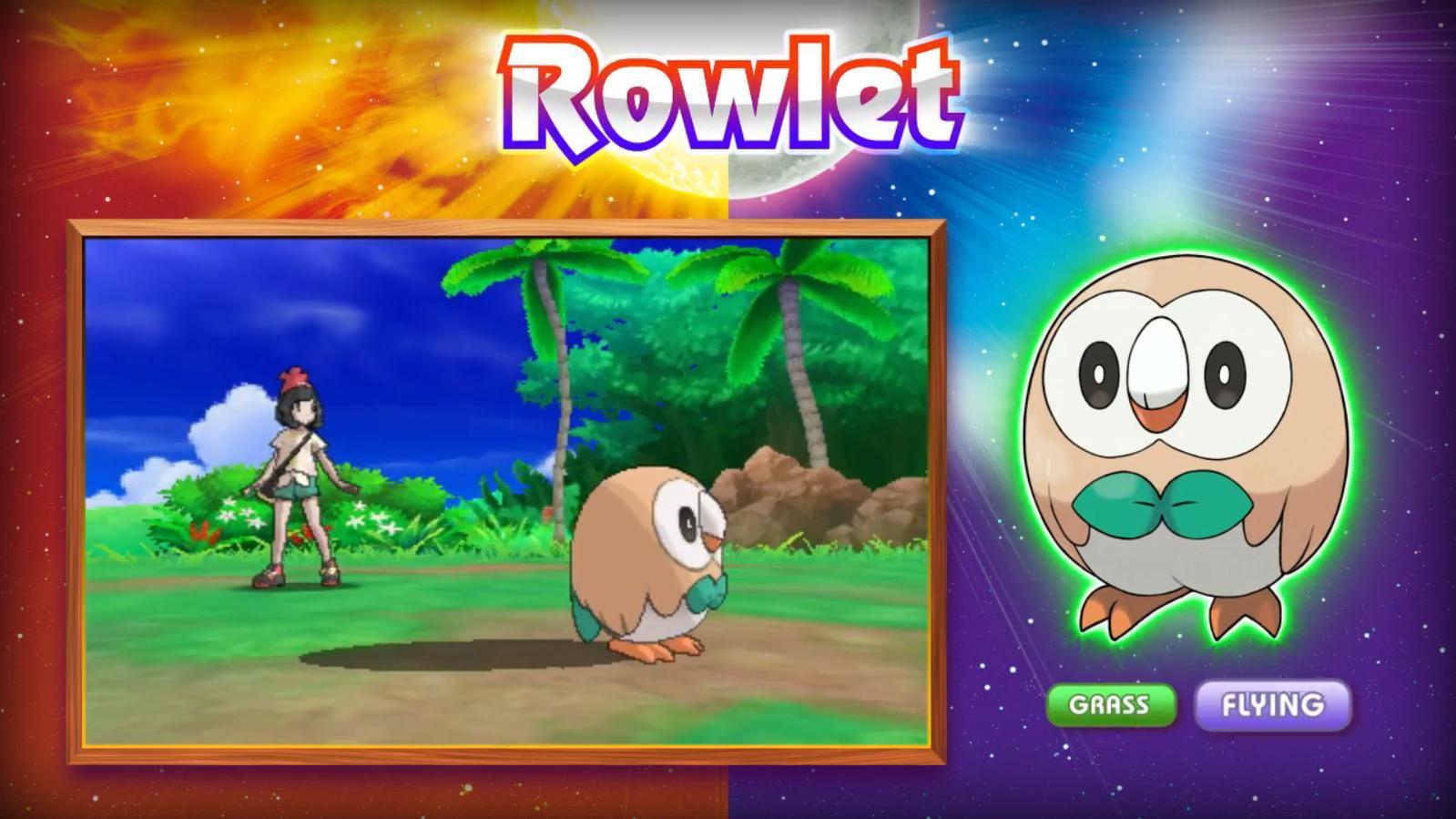 Grass starter Pokémon Rowlet | Rowlet's Roundness | Know ...