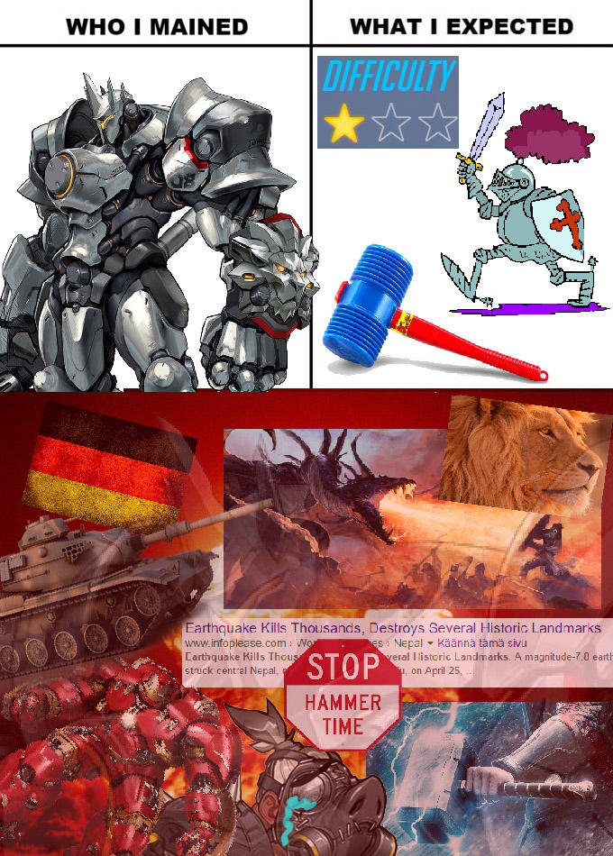 e6a my experience with reinhardt overwatch know your meme