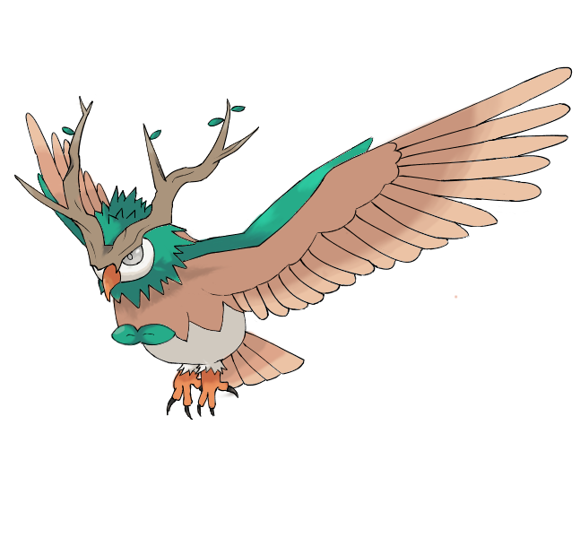 Rowlet Final Form   Fakemon   Know Your Meme