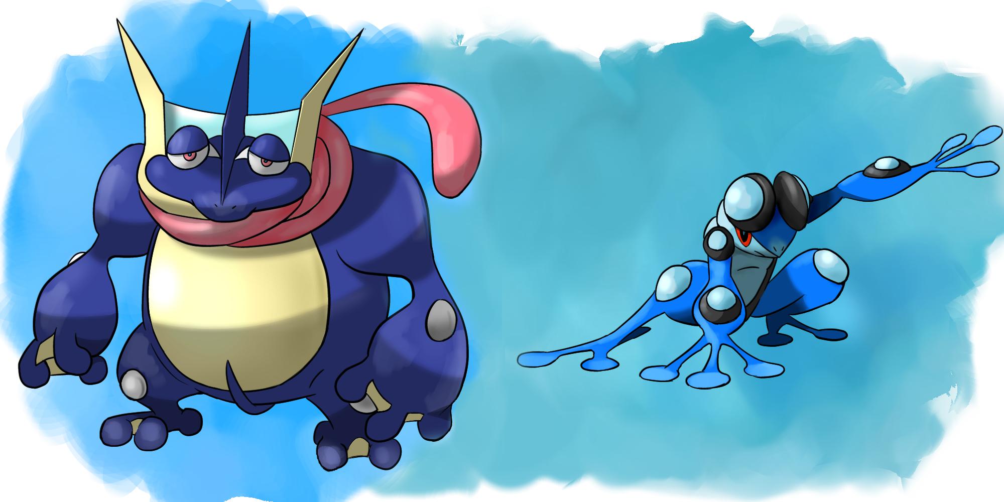 Fat Greninja and Skinny Seismitoad   Pokefusion / Pokemon ...