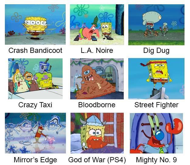 Anime Laws Memes >> Video Games   SpongeBob Comparison Charts   Know Your Meme