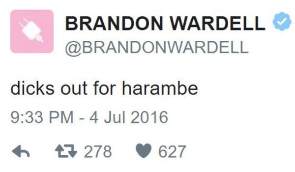 danny trejo dicks out for harambe