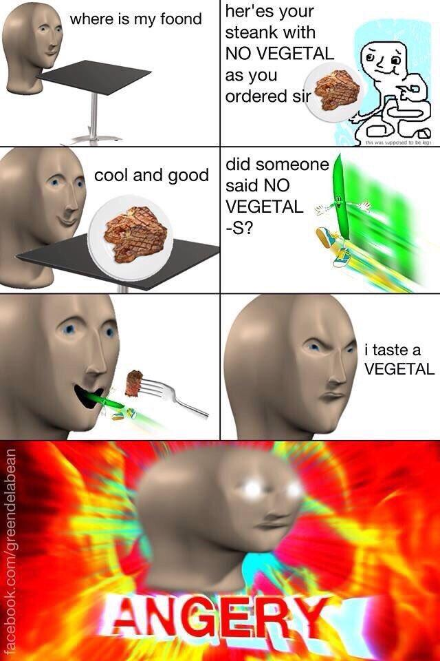 No Vegetal | Meme Man | Know Your Meme