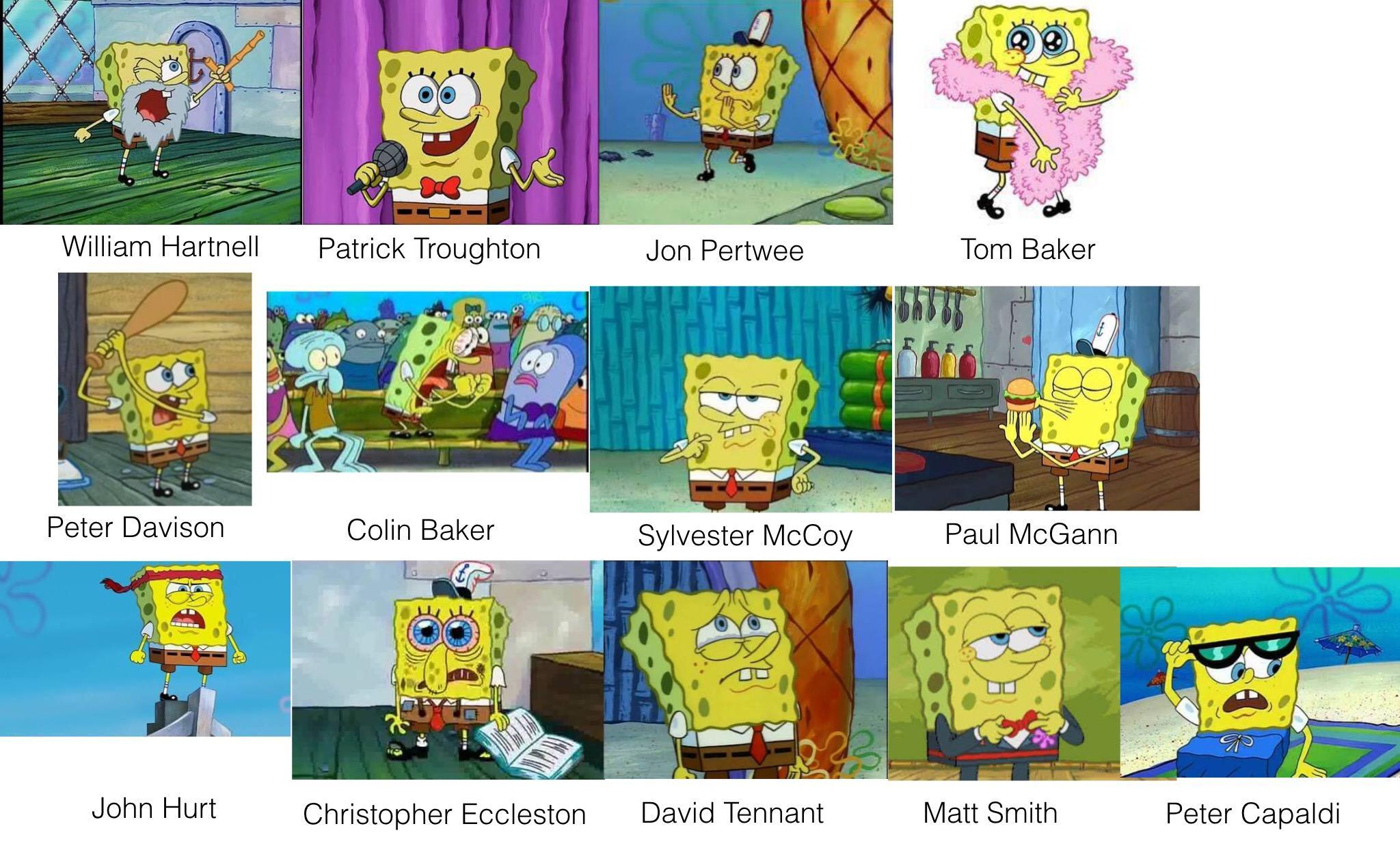 spongebob as doctor who incarnations spongebob